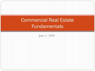 Commercial Real Estate Fundamentals