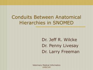 Conduits Between Anatomical Hierarchies in SNOMED