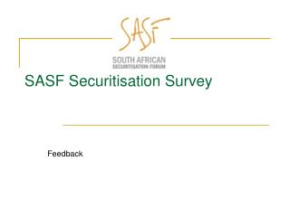 SASF Securitisation Survey