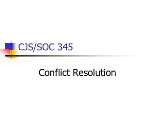 CJS/SOC 345
