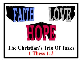 The Christian's Trio Of Tasks