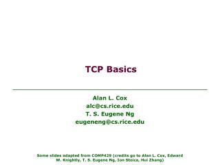 TCP Basics