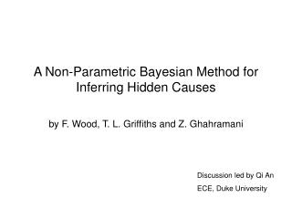 A Non-Parametric Bayesian Method for Inferring Hidden Causes