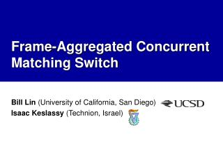 Frame-Aggregated Concurrent Matching Switch