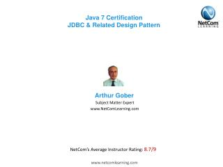 Java 7 Certification JDBC & Related Design Pattern