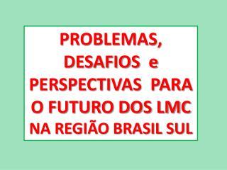 PROBLEMAS, DESAFIOS  e PERSPECTIVAS  PARA O FUTURO DOS LMC  NA REGIÃO BRASIL SUL