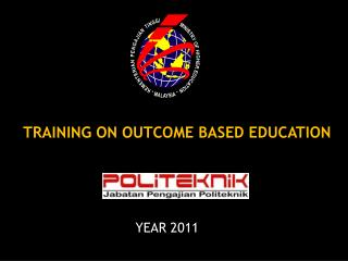 TRAINING ON OUTCOME BASED EDUCATION