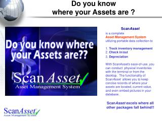 Do you know  where your Assets are ?