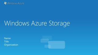 Using Azure Tables