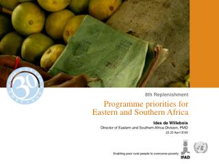Programme priorities for  Eastern and Southern Africa