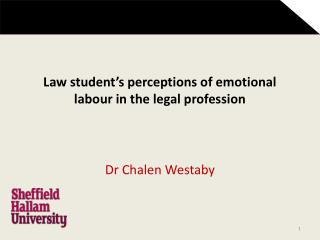 Law student's perceptions of emotional labour in the legal profession