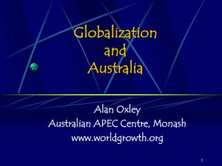 Globalization  and  Australia