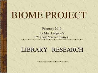 BIOME PROJECT