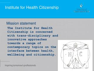 Institute for Health Citizenship