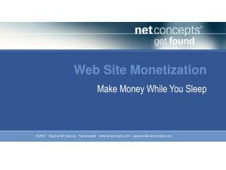 Web Site Monetization