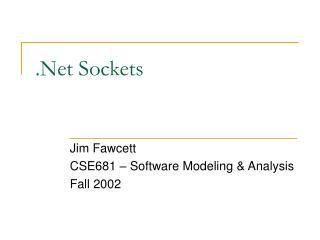 .Net Sockets