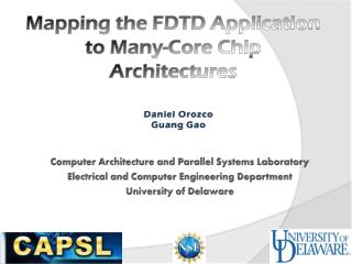 Mapping the FDTD Application to Many-Core Chip  Architectures
