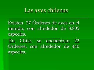 Las aves chilenas
