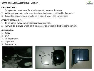 COMPRESSOR ACCESSORIES FOR P2P
