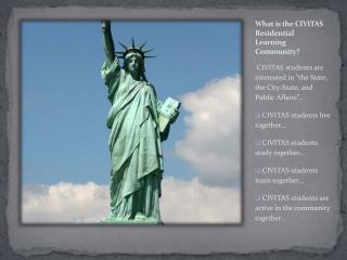 What is the CIVITAS Residential Learning Community?
