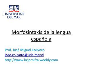 Morfosintaxis de la lengua española