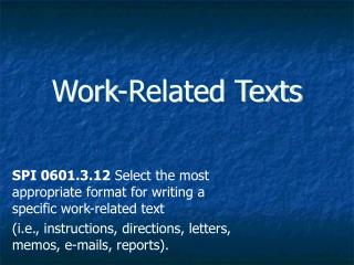 Work-Related Texts