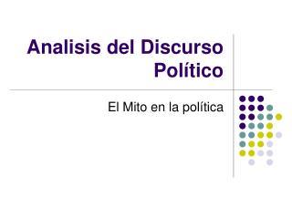 Analisis del Discurso Pol�tico