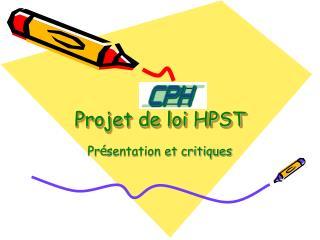 Projet de loi HPST
