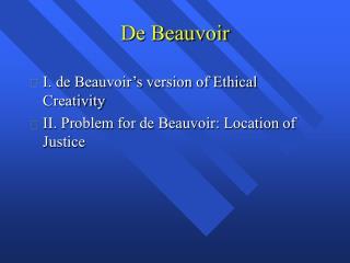 De Beauvoir