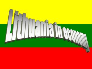 Lithuania in economy