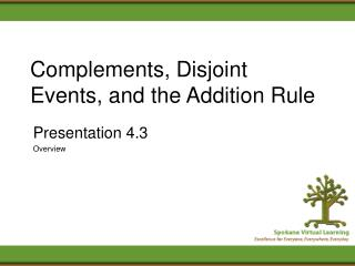 Complements, Disjoint Events, and the Addition Rule