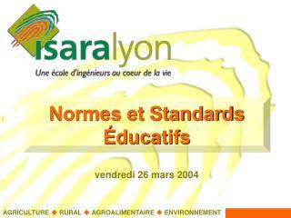 Normes et Standards Éducatifs