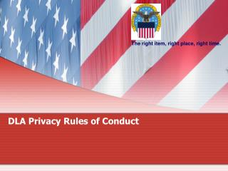 DLA Privacy Rules of Conduct