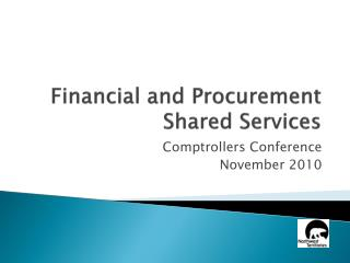 Financial and Procurement Shared Services