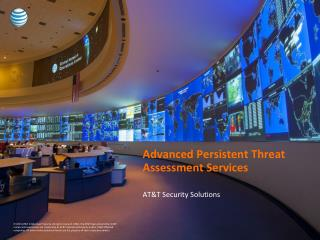 Advanced Persistent Threat Assessment Services