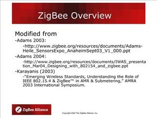ZigBee Overview