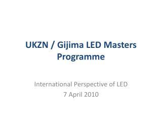 UKZN / Gijima LED Masters Programme