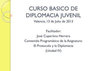 CURSO BASICO DE DIPLOMACIA JUVENIL