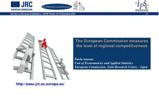 The European Commission measures the level of regional competitiveness Paola Annoni