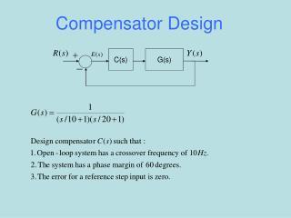 Compensator Design