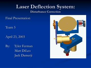 Laser Deflection System: Disturbance Correction