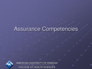 Assurance Competencies