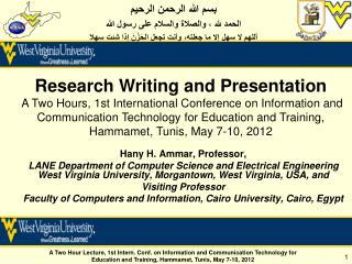 Hany H. Ammar, Professor,
