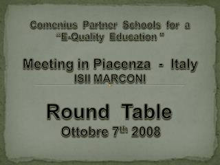 This is a project which involves the cooperation of three  schools: