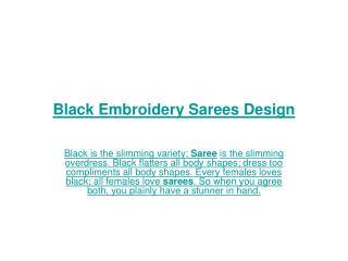 Black Embroidery Sarees Design