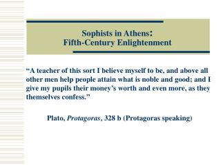 Sophists in Athens : Fifth-Century Enlightenment