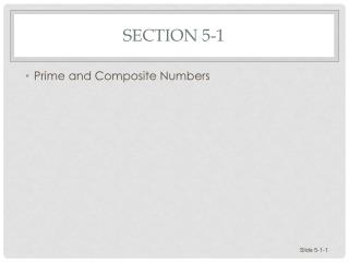Section 5-1