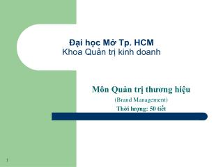 i hc M Tp. HCM Khoa Qun tr kinh doanh