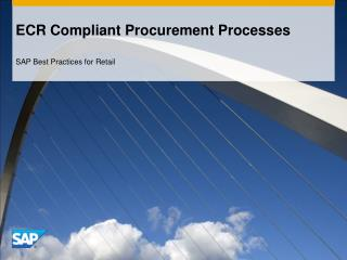 ECR Compliant Procurement Processes