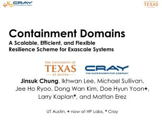 Containment Domains A Scalable, Efficient, and Flexible  Resilience Scheme for  Exascale  Systems